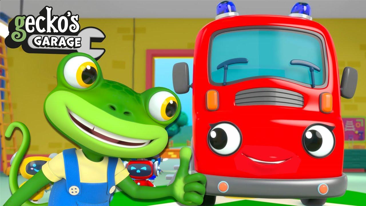 Fire Truck Fun With Fiona Fire Truck | New Gecko's Garage | Trucks For Children | Cartoons For Kids