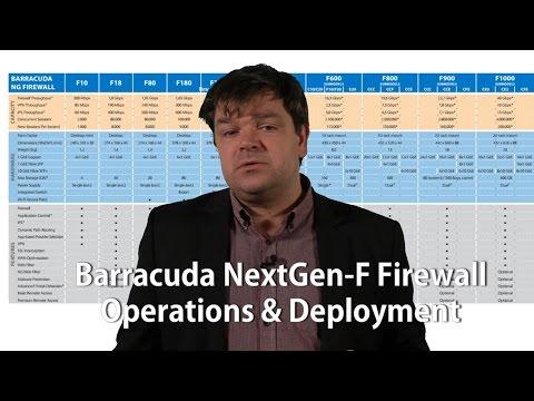 Barracuda NextGen F Firewall - PART 3 - Operations & Deployment