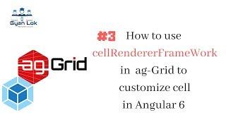 CellRendererFramework im Ag-Gitter Eckig 6 | Zelle Rendern im Ag-Gitter | Benutzerdefinierte Zelle im Ag-Gitter