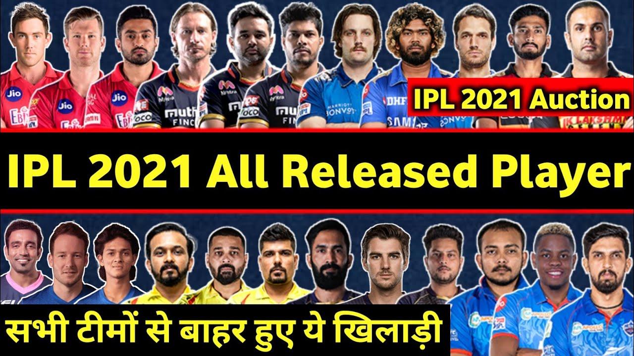 Download IPL 2021 Auction- All teams confirmed released player list, RCB, MI, DC, KKR, CSK, RR, SRH, KXIP