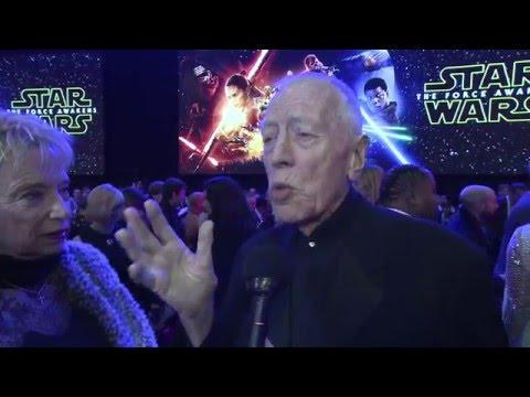 Star Wars The Force Awakens European Premiere Interview - Max von Sydow
