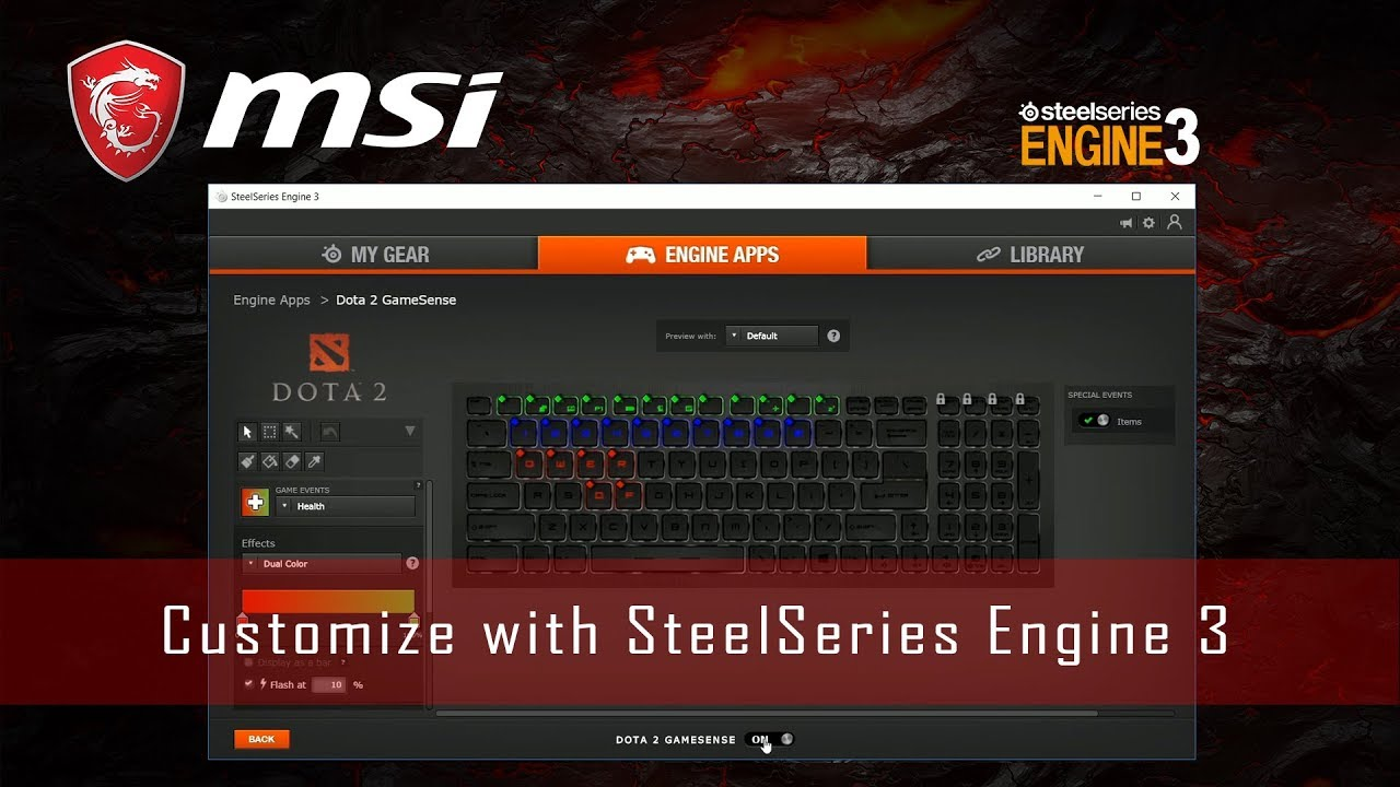 Customization with SteelSeries Engine 3 (SSE3) | MSI