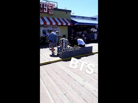 BTS IN SANTA MONICA BEACH [PHOTOS&VIDEO]