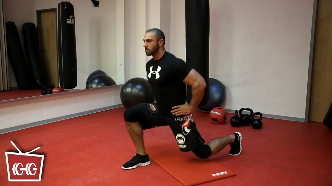 fitness zu hause ausfallschritt gesprungen mit coach seyit youtube. Black Bedroom Furniture Sets. Home Design Ideas