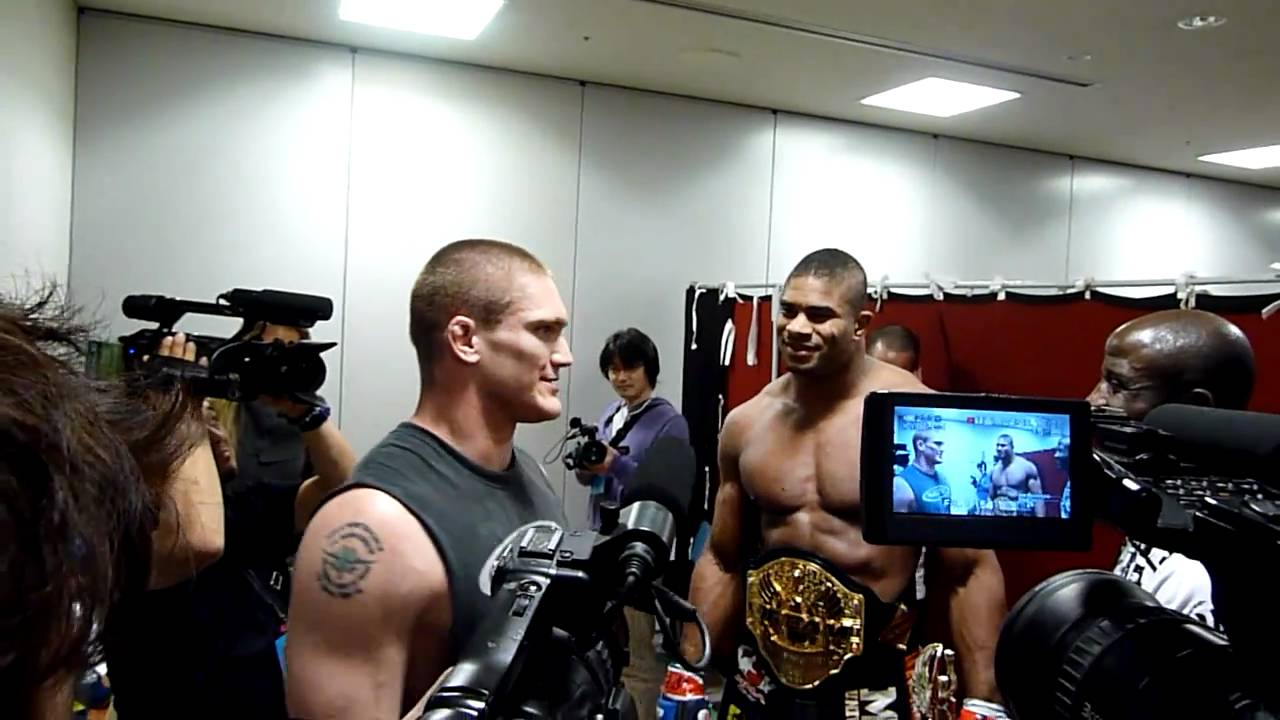 alistair overeem amp todd duffee speak backstage after their