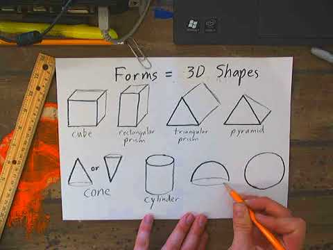 Drawing 3d Shapes Forms Youtube