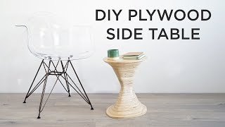 DIY Side Table | Made from one sheet of plywood