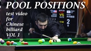 Pool Positions On Chinese Billiard Table 2015