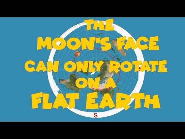 The Moons Face can only Rotate on a Flat Earth