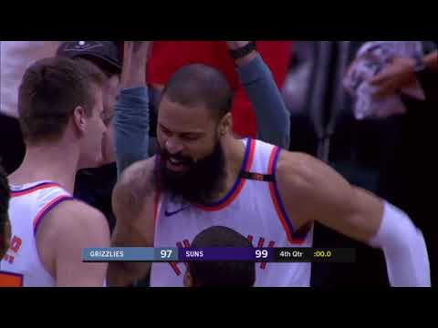 Tyson Chandler game winning dunk on inbound pass: Suns vs Grizzlies