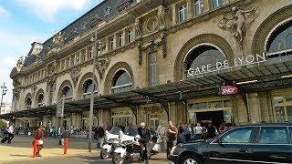 """GARE DE LYON  Station in Paris ,  """"Le Train Bleu"""" Restaurant and Train Ride to Lyon, France"""
