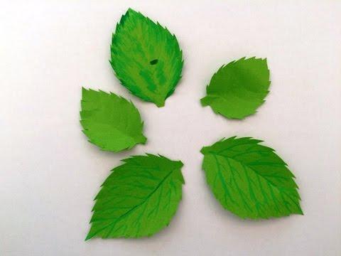 making-rose-leaves-from-paper-diy-:-paper-craft-:-fleurs-en-papier