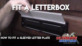 How to fit a sleeved letter plate