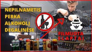 eksperimentas filmuota slaptai kaip nepilnametis perka alkoholį degalinėse