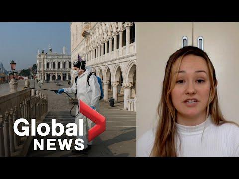 Coronavirus outbreak: Canadian shares experience living under Italy lockdown