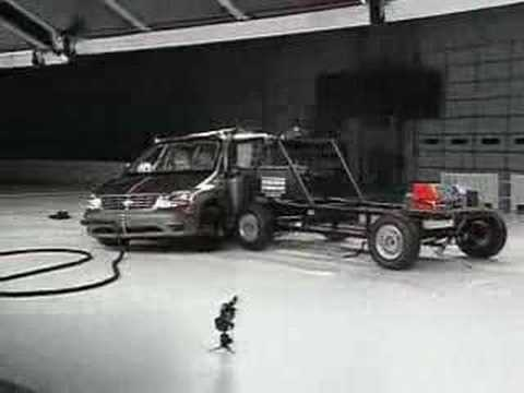Crash Test 2007 Discontinued Ford Freestar Mercury MontereySide Impact IIHS