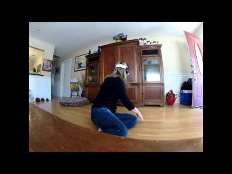 My mom's first time trying my Samsung Gear VR