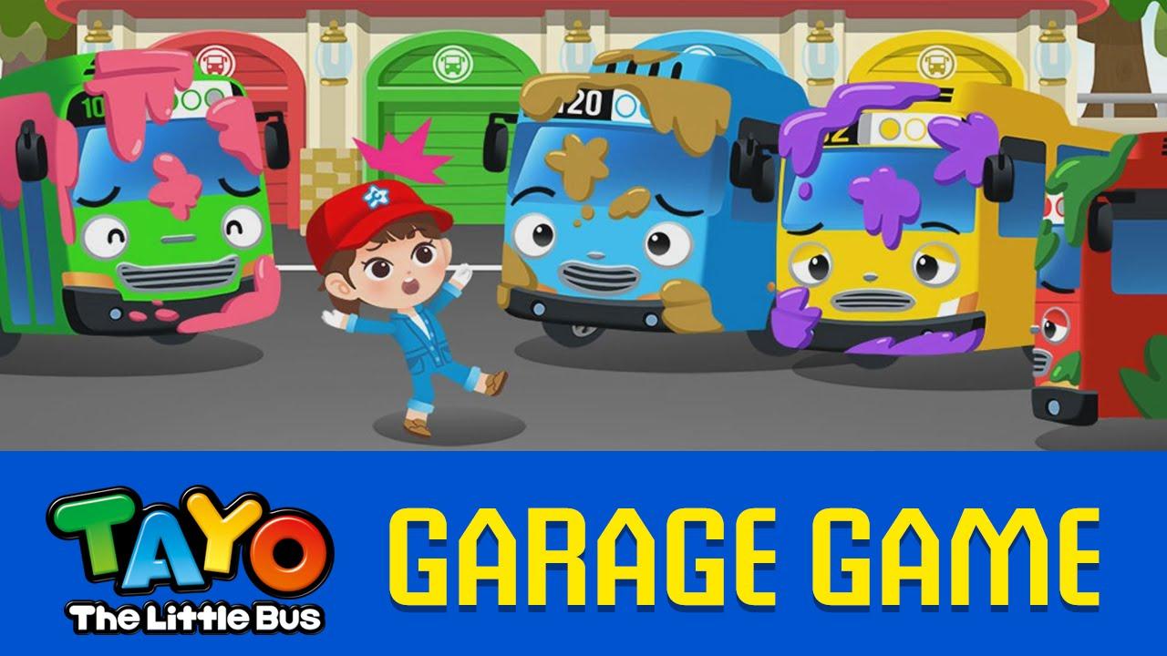 En Tayo Garage Games 03 Car Washing Youtube