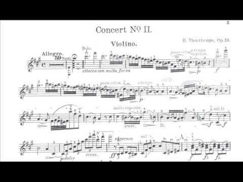 Vieuxtemps, Henry mvt1 2nd violinconcerto