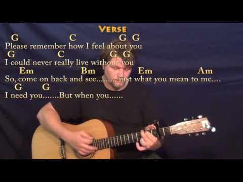 I Need You (Beatles) Guitar Lesson Chord Chart with Chords/Lyrics - Capo 2nd