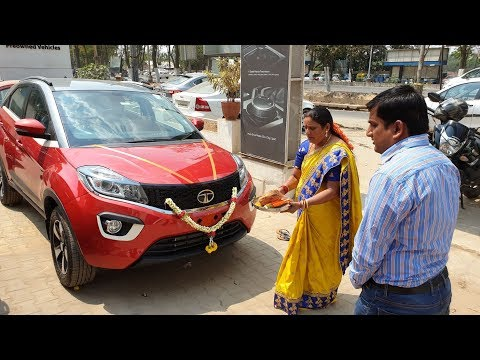 Doing Pooja & Taking Delivery of Tata Nexon Dual Tone|Exterior,Interior&Driving Video