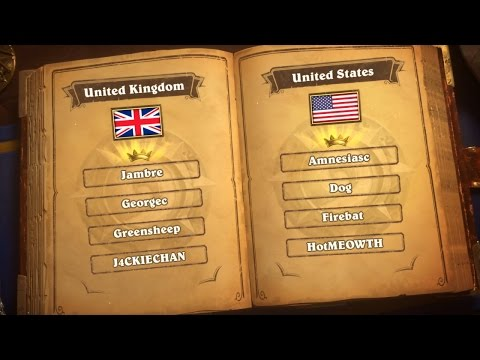 United Kingdom vs United States- Group B - Match 2 - Hearthstone Global Games