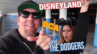 WE ARE BACK! A crazy fun Saturday: Disneyland, DCA & Dodger Game! & KT finally rides the Teacups...