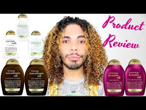 OGX Organix Product Review Macadamia Oil, Keratin Oil, Coconut Milk, Coconut Oil Shampoo & Condition