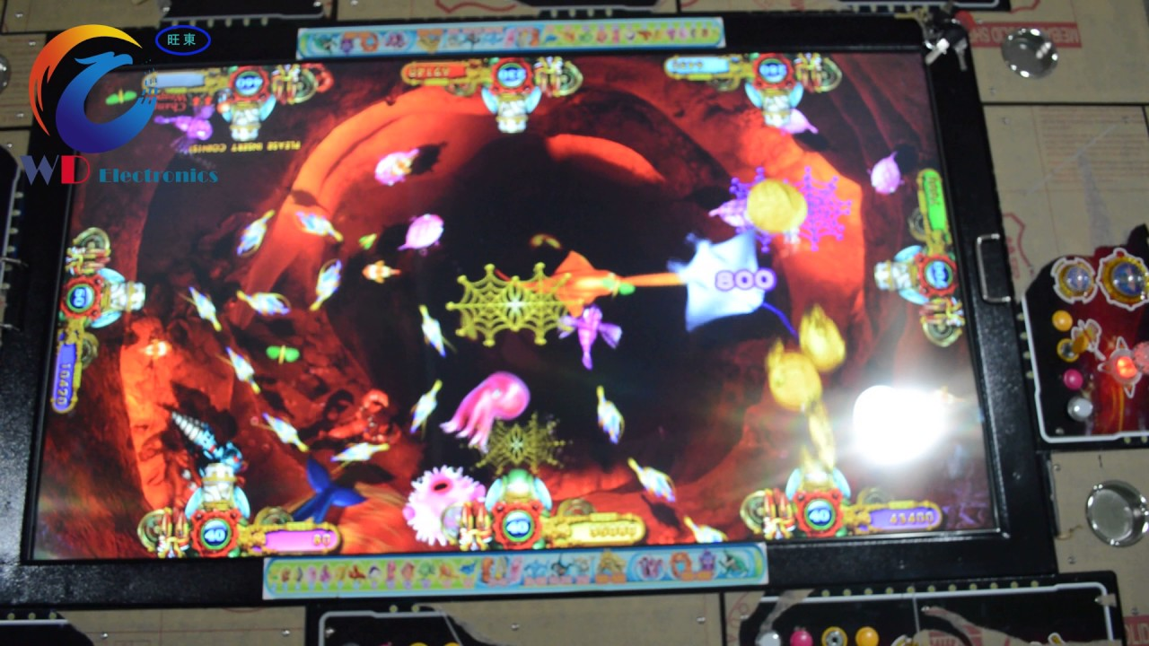 Ocean monster plus arcade skill fish game machine table for How to play fish table game