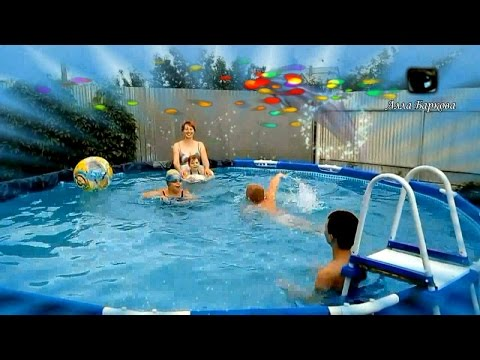 Каркасный бассейн День рождения ребенка Веселые Конкурсы в бассейне