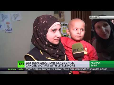 Selling medicine to Aleppo cancer kids became a crime due to EU & US anti-Assad sanctions