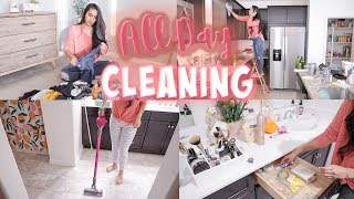 DEEP CLEAN WITH ME FOR THE ENTIRE DAY! CLEANING MOTIVATION