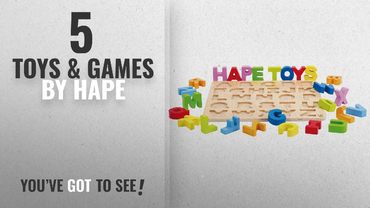 Top 10 Hape Toys Games 2018 Hape Alphabet Stand Up Kids Wooden Learning Puzzle