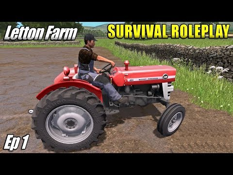 NEW GAME MODE - Survival Roleplay Farming Simulator 17 | Letton Farm - Ep 1
