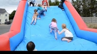 Bouncy Castle Fun Outdoor Playground Kids Party Time|TheChildhoodLife