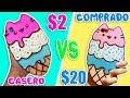 🍦Funda Móvil CASERA VS COMPRADA de Helado con Gatito Kawaii 🍦