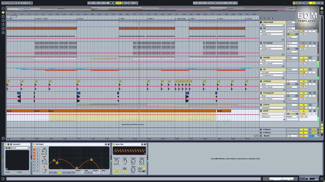 EDM Templates FREE House 4 Ableton Template - YouTube