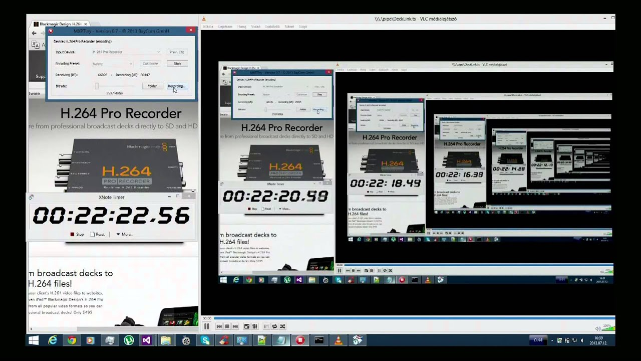 H 264 Pro Recorder Real Time Hardware Encoding Latency Youtube