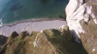 Etretat - Aiguille creuse en survol