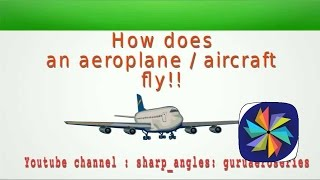 How does an Aircraft fly ? : Flight lift theory explained (The Aerodynamics of flight )