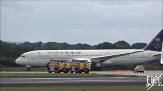 Saudi Arabian Airlines 787-9 Emergency Landing at Manchester Airport