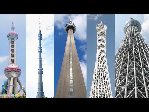 Las cinco torres más altas del mundo, encabezadas por la Tokyo Skytree con sus 634 metros