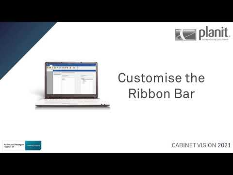 CUSTOMISE the Ribbon Bar and Quick Access Toolbar   CABINET VISION 2021