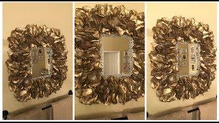 Dollar Tree DIY - 💕 Gold Rose Petal Wall Mirror (Version #2) 💕