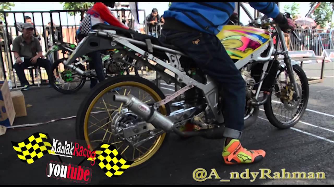 ahrs drag bike championship kelas kawasaki ninja 150 cc frame std