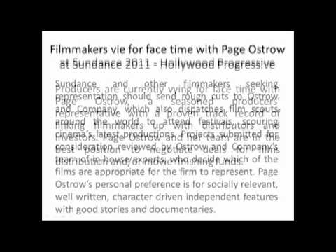 Ostrow and Company-Filmmakers Vie for Face Time with Page Ostrow