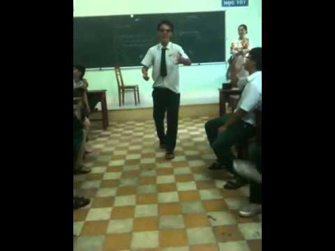 Lớp trưởng 12A3 ischool Nha Trang nhảy gangnam Style cực ch