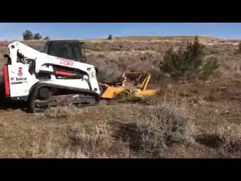 Skid-Steer Mower in Action in Montana - Customer Video - Diamond Mowers