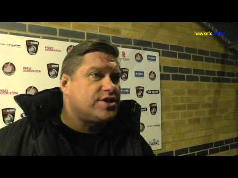 Bishop's Stortford v Havant & Waterlooville. Goals & reaction  Dec 2014