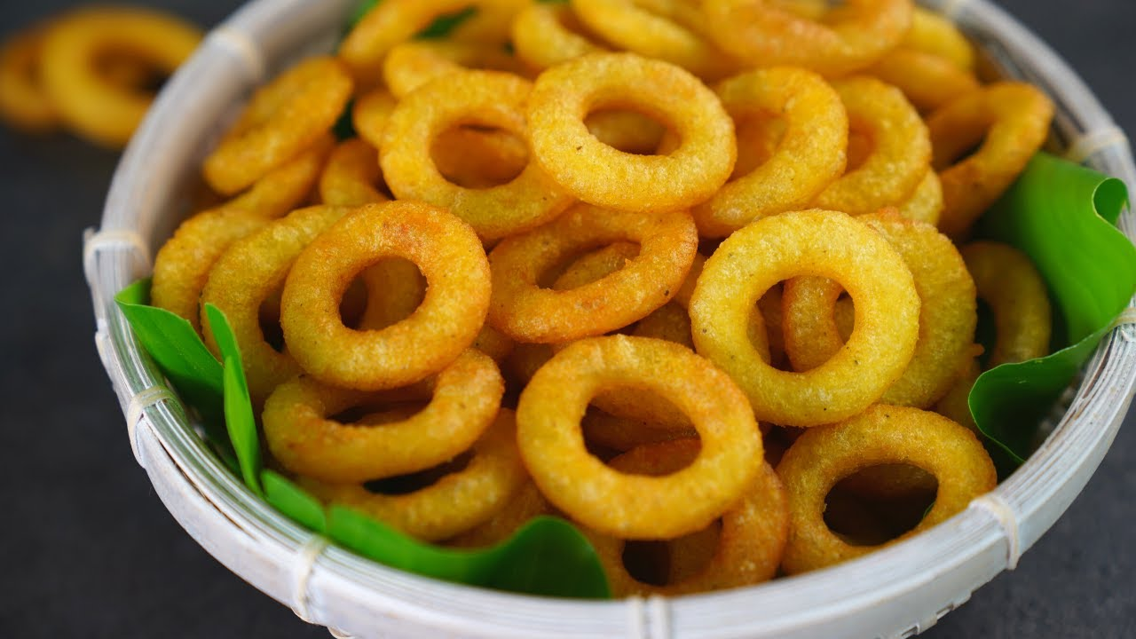 Potato Ring Chips/Potato Rings / Aloo Rings Recipe by Tiffin Box | Potato Chips,potato Snacks Recipe